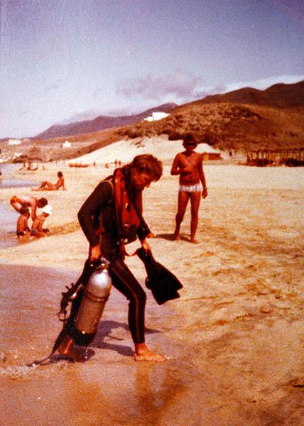 1973 - RalfKiefner - erste Tauchgänge