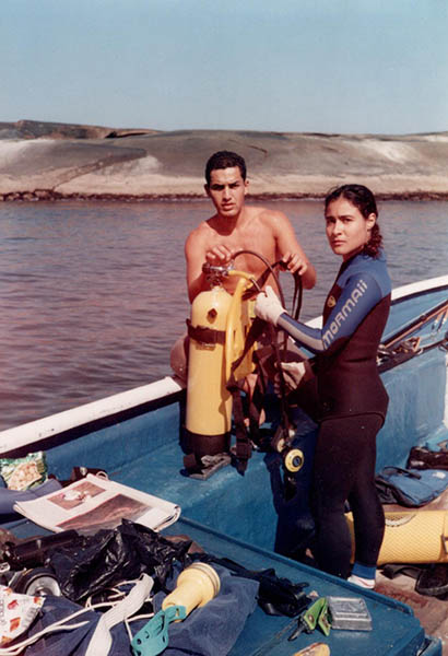 1993 - Andrea Ramalho - erste Tauchgänge