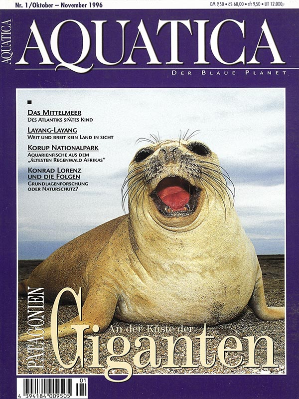 Magazin-Cover AQUATICA 1996