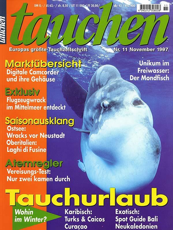 Magazin-Cover TAUCHEN 1997