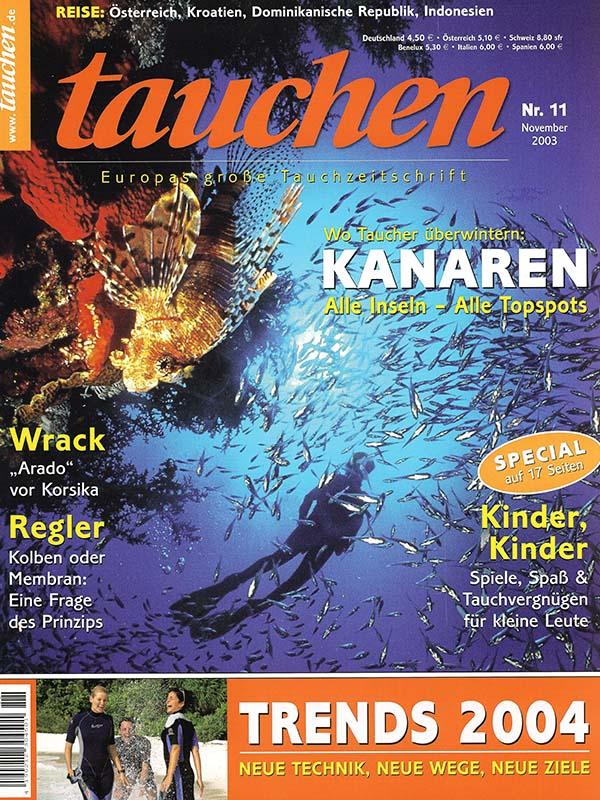 Magazin-Cover TAUCHEN 2003