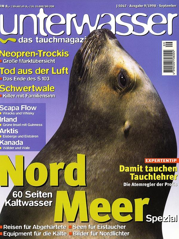 Magazin-Cover UNTERWASSER 1998